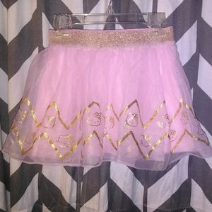 ✨ 3/$30 HELLO KITTY Pink & Shiny Gold Skirt